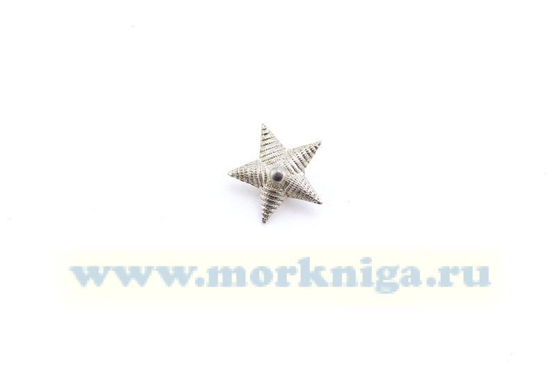 Звезда большая с рубчиком (старого образца) серебристая, металл (винт)