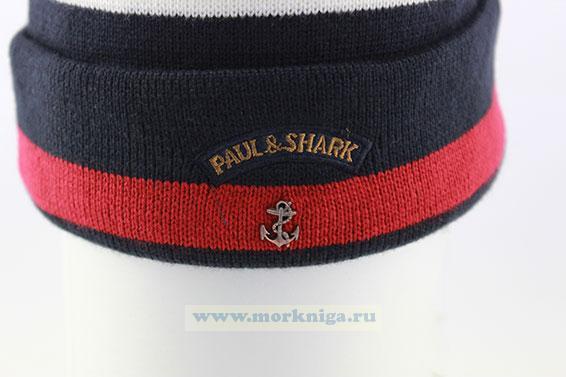 Шапка PAUL&SHARK (Синяя с белым и красным)