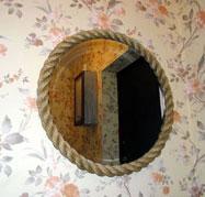 Зеркало в раме из каната