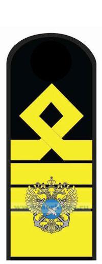 Погоны (наплечные знаки различия) морского флота. 14 должностная категория