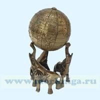 Глобус малый на трех слонах