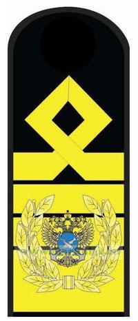 Погоны (наплечные знаки различия) морского флота. 15 должностная категория