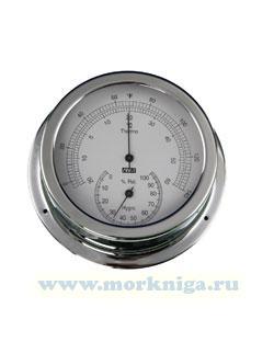 Термометр - гигрометр (полированная и хромированная латунь 150х120х45 мм)