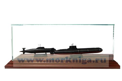 """Подарочная композиция """" Две подводные лодки Акула и Тайфун"""""""