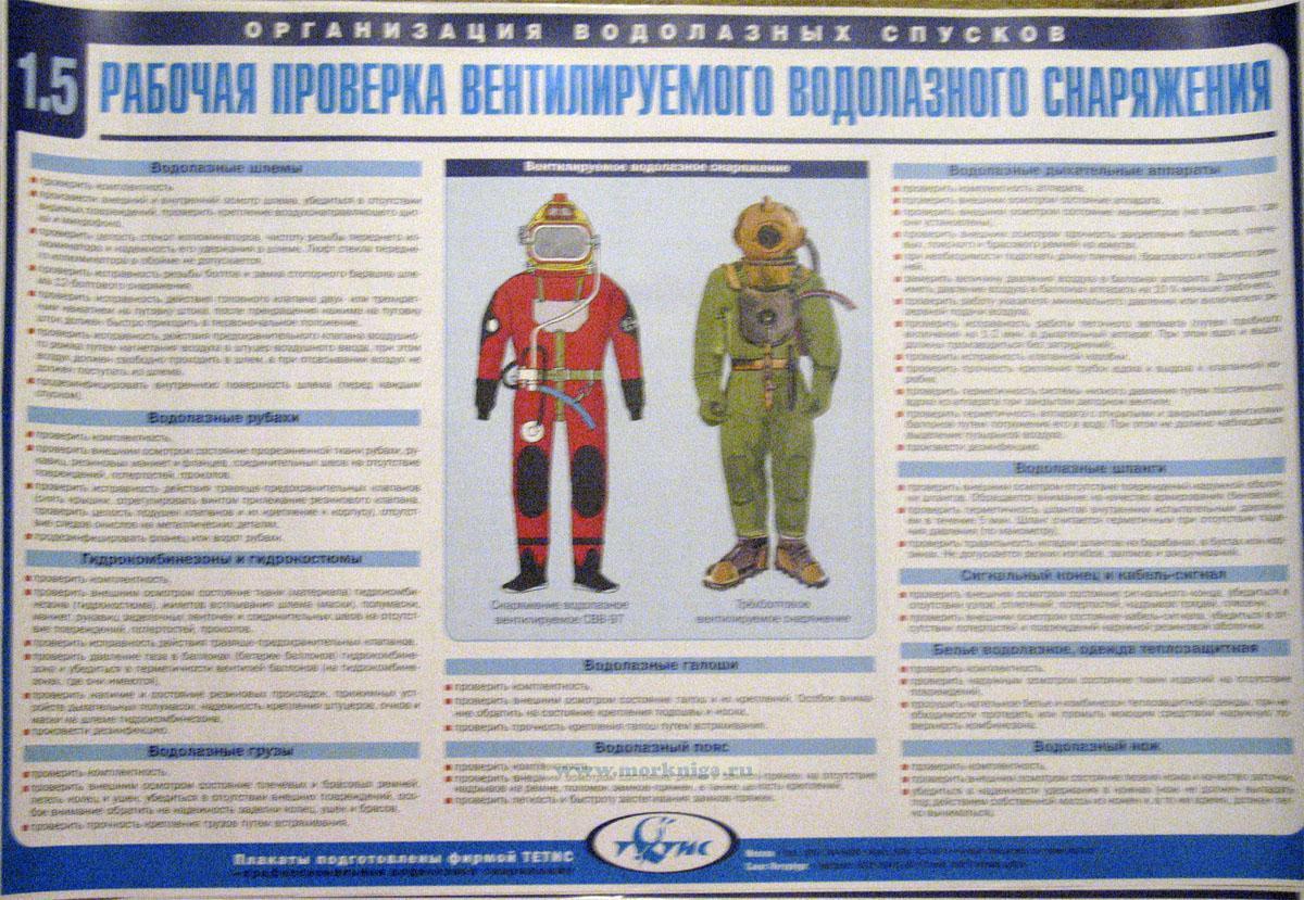 """Комплект плакатов """"Водолазное дело"""" в тубусе (18 листов, 60х90 см)"""