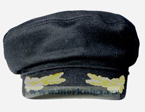 Капитанка  (черная) вышитый козырек