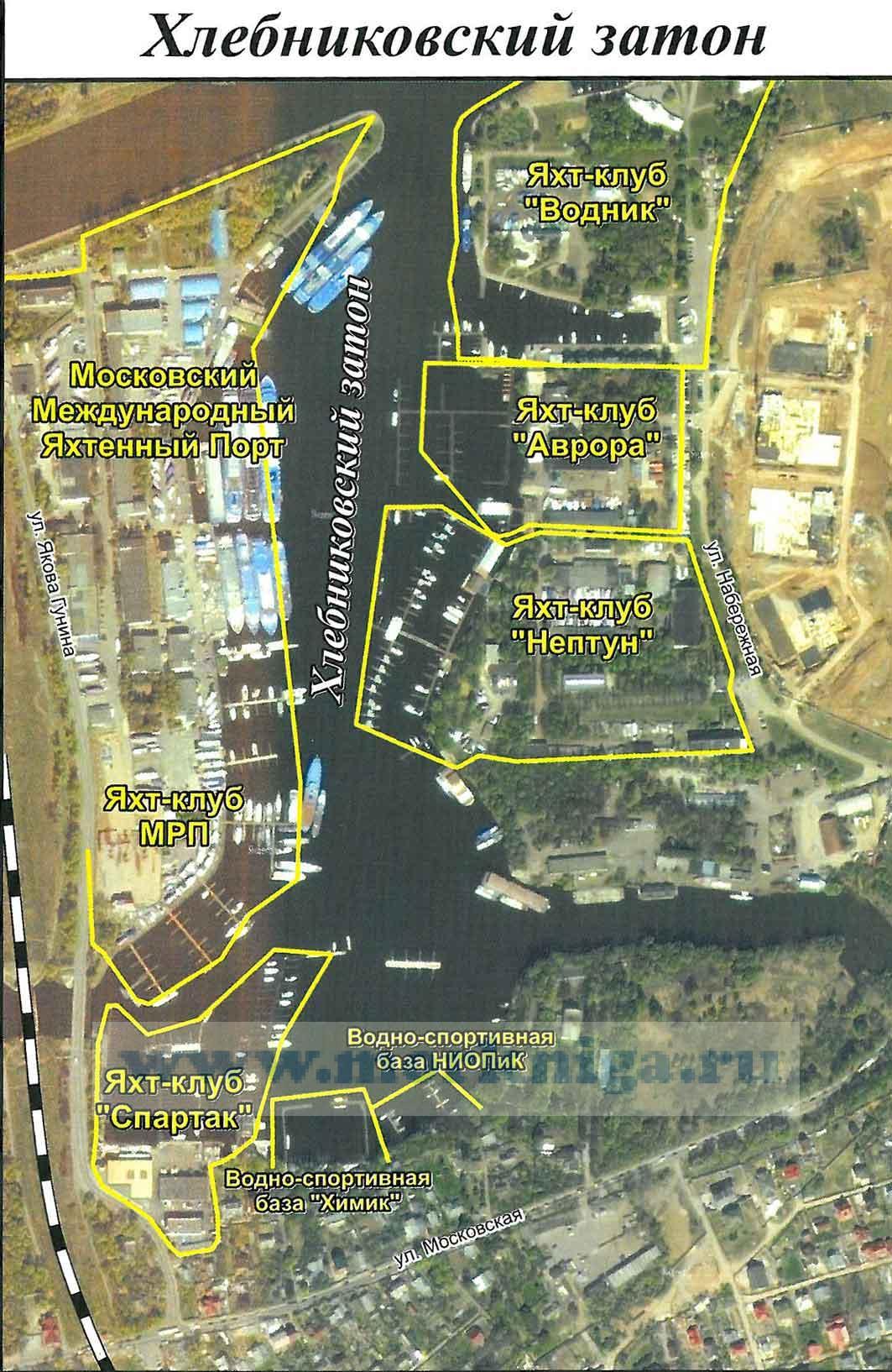 Клязьминское водохранилище. Карта