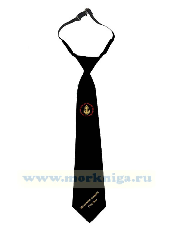 Галстук черный с вышивкой