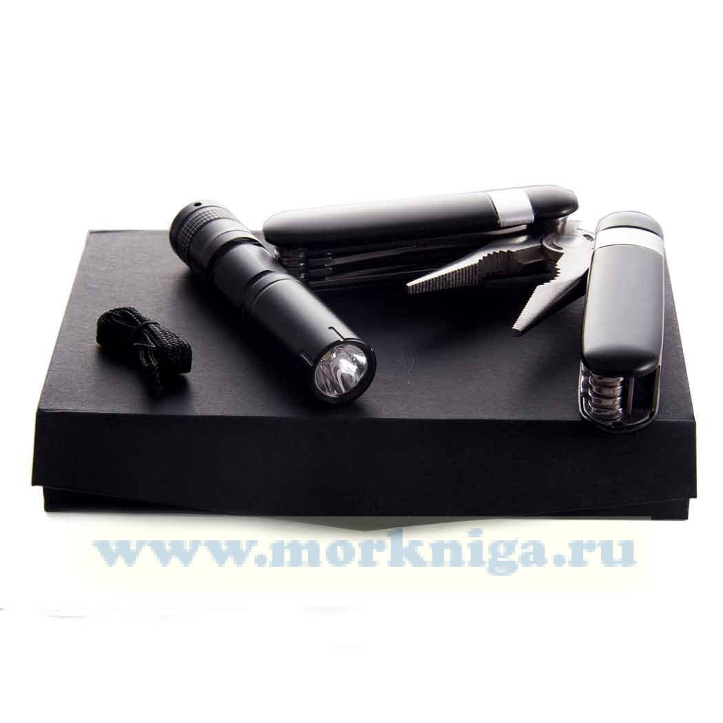 Набор для путешествий: фонарик, универсальные пассатижи, батарейка